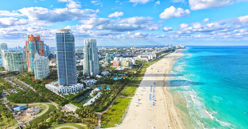Tarde en el mar de Miami