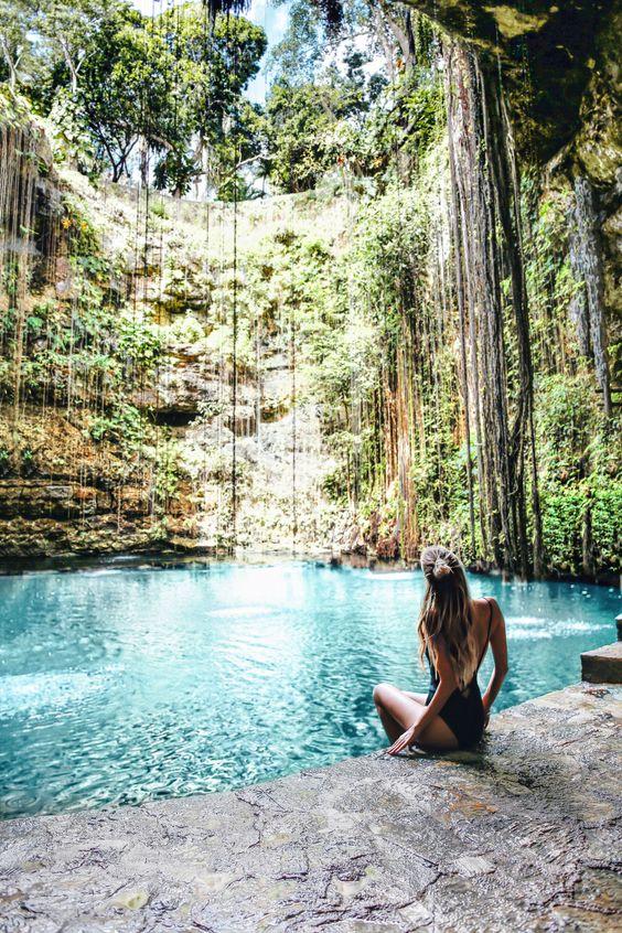 cenotes en la península de Yucatán